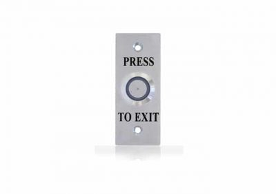 WES1911, Narrow S/Steel Back Plate, Illuminated Flush Button, NO/NC Contacts, Backlit & IP65 Rating