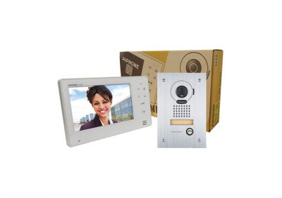 Aiphone, JOS-1F Entry Security Intercom Box Set With Vandal Resistant, Flush-Mount Door Station