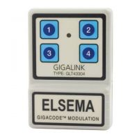 Elsema, GLT43304, Gigalink 4 Channel Transmitter 433MHz Handheld TX