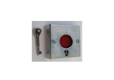 11-117 Holdup Switch, Key Resettable Panic Button Metal