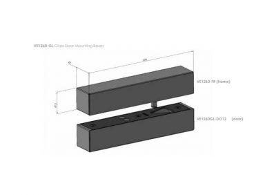 FSH, VE1260GL-FR, Glass Frame Kit For VE1260R (Lock To Be Ordered Separately)