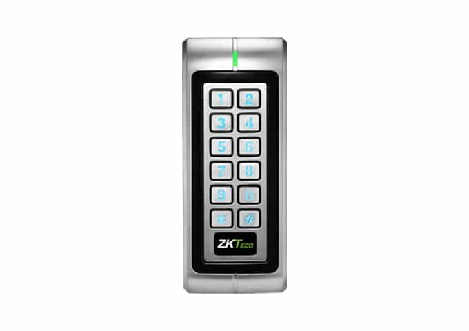 ZKA184, ZKTeco DF-V1, EM Narrow Style, WIEGAND or Stand-Alone Proximity Card and PIN Reader