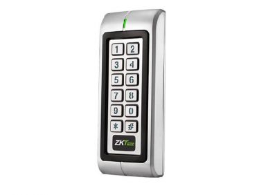 ZKTeco, DF-V1, EM NARROW Style, WIEGAND Or Stand-Alone Proximity Card And PIN Reader