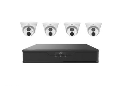 UNV, KIT30104S2-4T2TB, KIT 4CH NVR With 4x 3MP Turret Cams