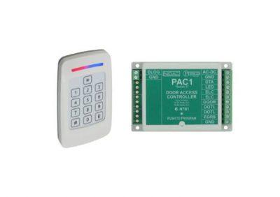Presco, PAC-1 KIT, Single Door Access Controller, 12/24v AC/DC, 400 User Code, Egress Button Input, Includes PRE Keypad