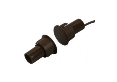 """Aleph Steel Door Contact BR-1021C, Brown, 3/4"""" Diameter, C/O 25mm"""