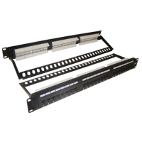 PSS, Cat6/24, UTP Cat.6 Patch Panel, 24 Port, LSA IDC,With Back Bar