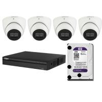 Dahua, 4CH 3TB NVR with 4 x 6MP Cameras