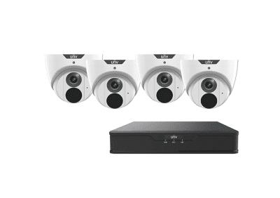 UNV, 8-Channel x 4, 8MP Camera Kit, 4k