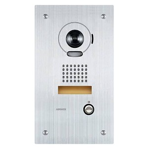 AUD106, IS-DVF Flush mount stailess steel colour video door station