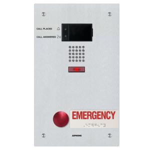 Aiphone, AIP923, IX-SS-2RA Flush Audio Door Station with Emergency Button